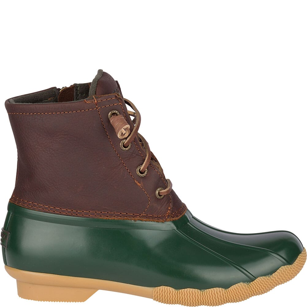 Sperry Women's Saltwater Duck Boots - Green/Brown