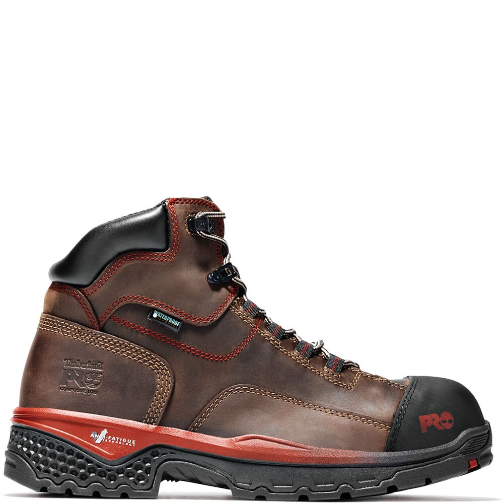 A1WSB214 Timberland Pro Men's Bosshog WP Safety Boots - Red Brown