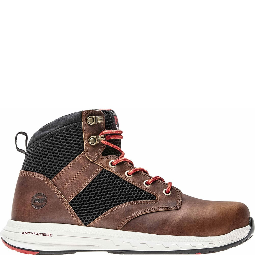 A1WZU214 Timberland Pro Men's Drivetrain Mid Safety Boots - Brown/Black
