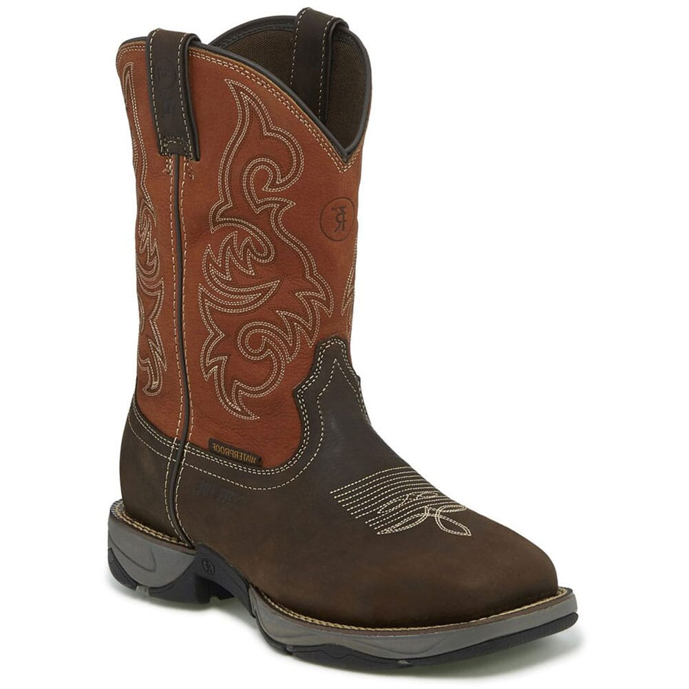 RR3352 Tony Lama Men's Junction WP Safety Boots - Chocolate