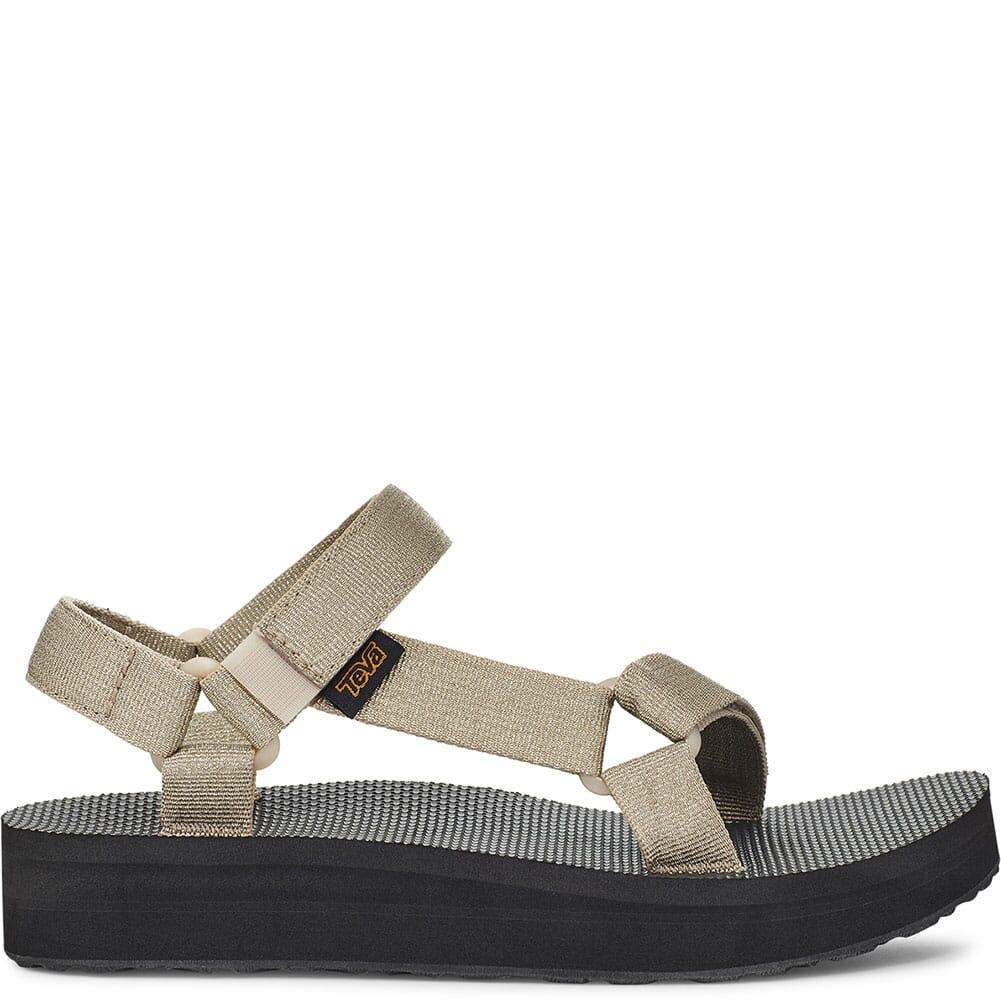 1090969-MTC Teva Women's Midform Universal Sandals - Metallic Champagne