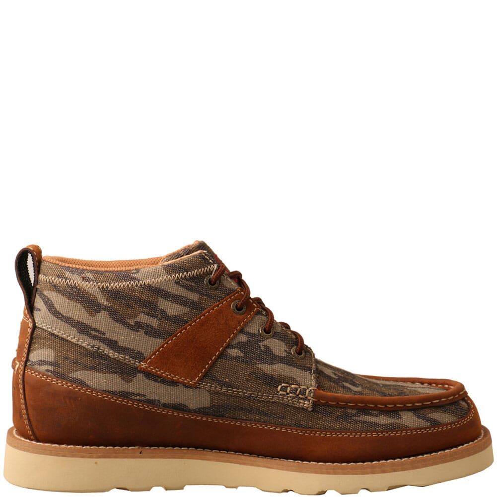 MCA0034 Twisted X Men's Mossy Oak Wedge Casual Shoes - Camo/Oiled Saddle