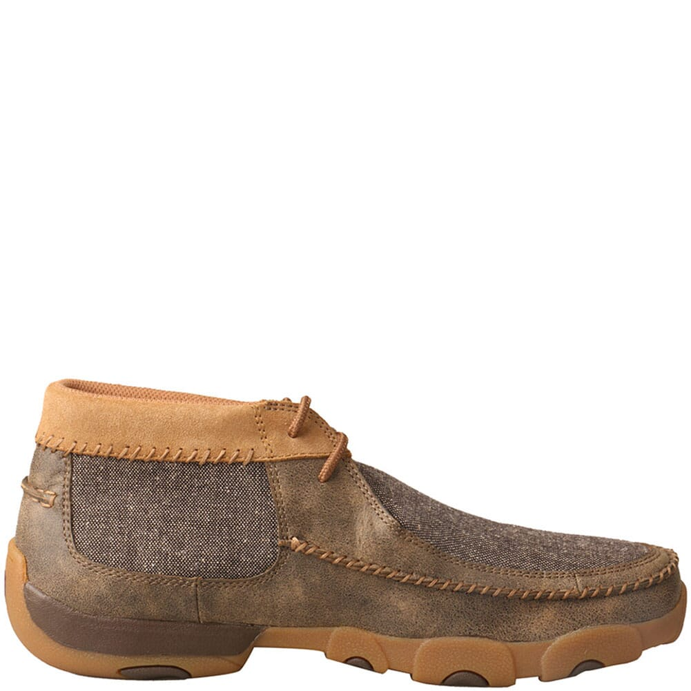 MDM0070 Twisted X Men's Chukka Driving Moc Casual Shoes - Bomber/Dust