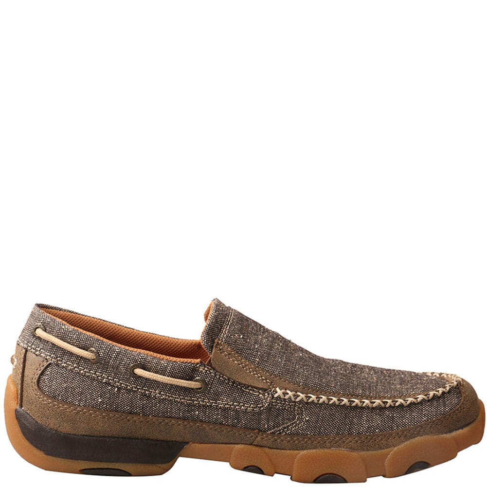 MDMS012 Twisted X Men's Slip-On Driving Moc Casual Shoes - Dust