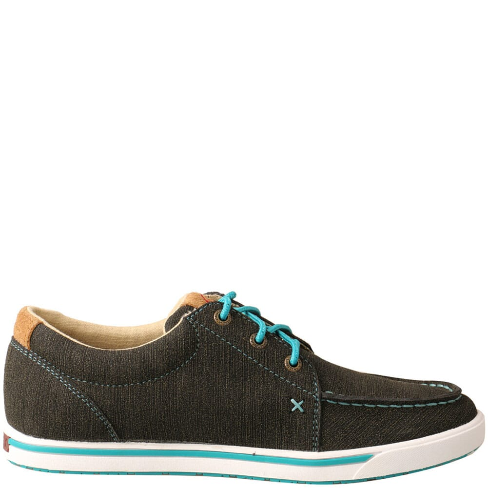 WCA0029 Twisted X Women's Kicks Casual Shoes - Charcoal/Turquoise