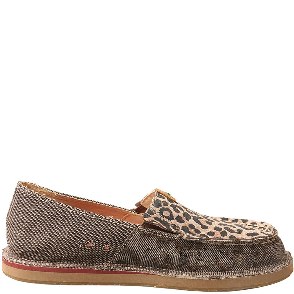 WCL0001 Twisted X Women's ecoTWX Slip-On Loafers - Dust/Leopard