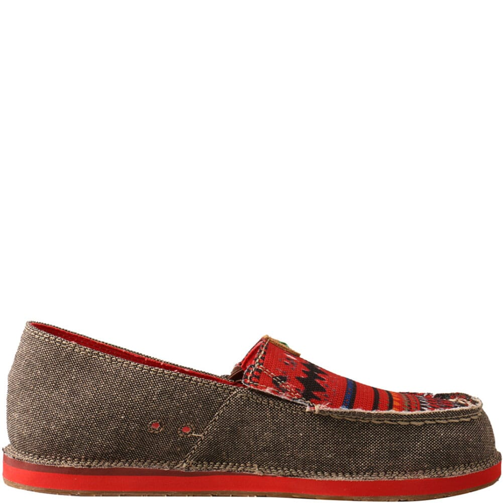 WCL0011 Twisted X Women's ecoTWX Slip-On Loafers - Dust/Red