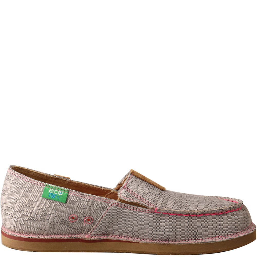 WCL0012 Twisted X Women's Slip-On Loafers - Light Grey/Pink