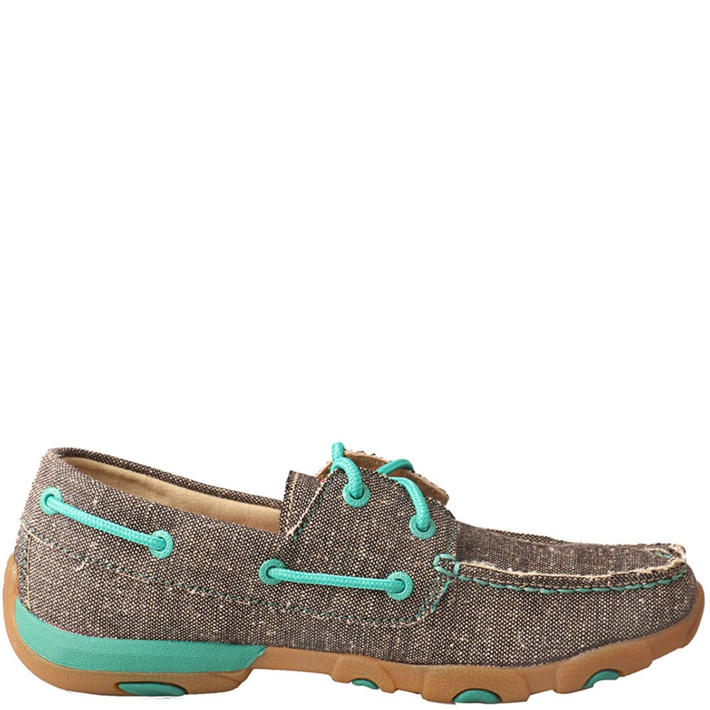 WDM0085 Twisted X Women's Driving Moc Boat Shoes - Dust