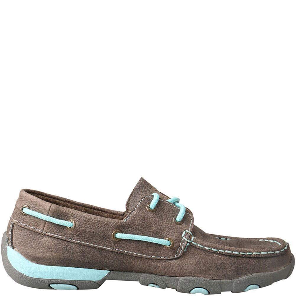 WDM0098 Twisted X Women's Boat Shoe Driving Moc - Grey/Light Blue
