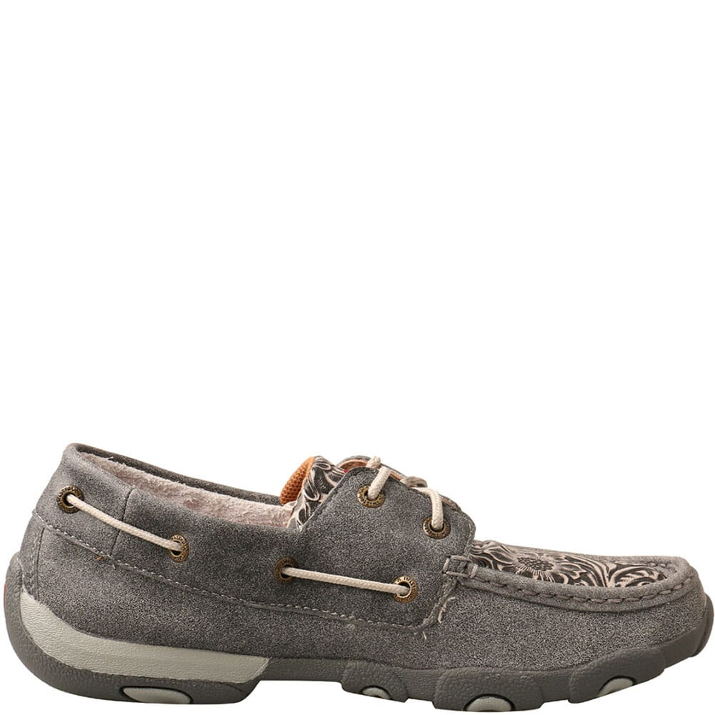 WDM0130 Twisted X Women's Boat Shoe Driving Moc - Grey/Multi