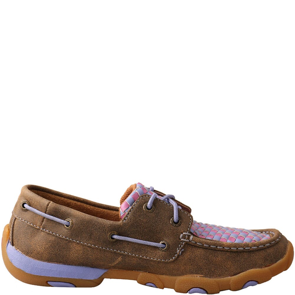 WDM0134 Twisted X Women's Boat Shoe Driving Moc - Bomber/Purple