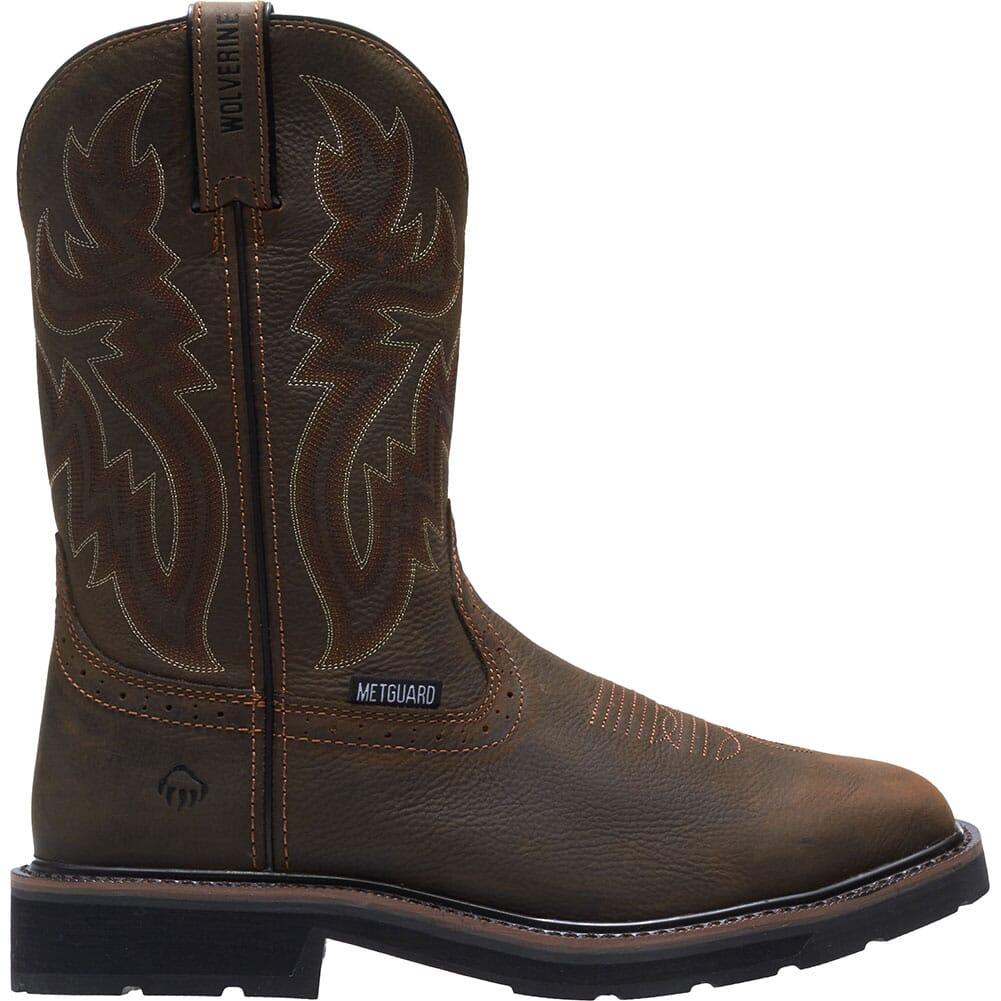 Wolverine Men's Rancher Met Guard Safety Boots - Dark Brown