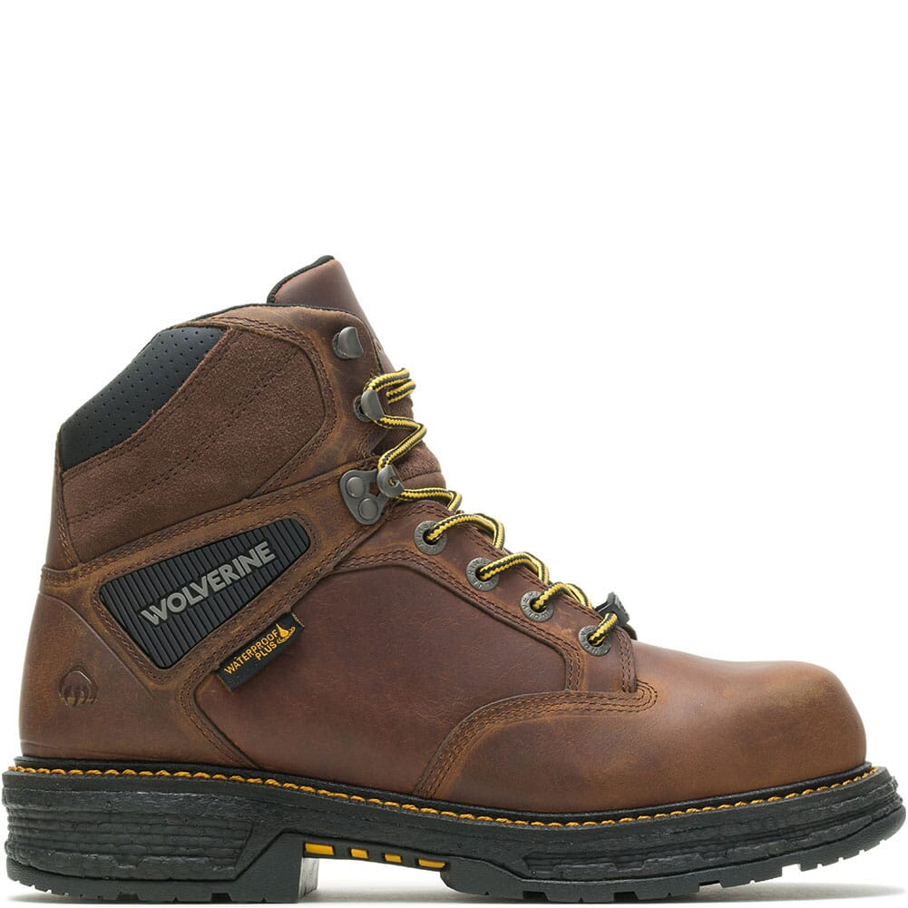W201175 Wolverine Men's Hellcat Ultraspring CM Safety Boots - Tobacco