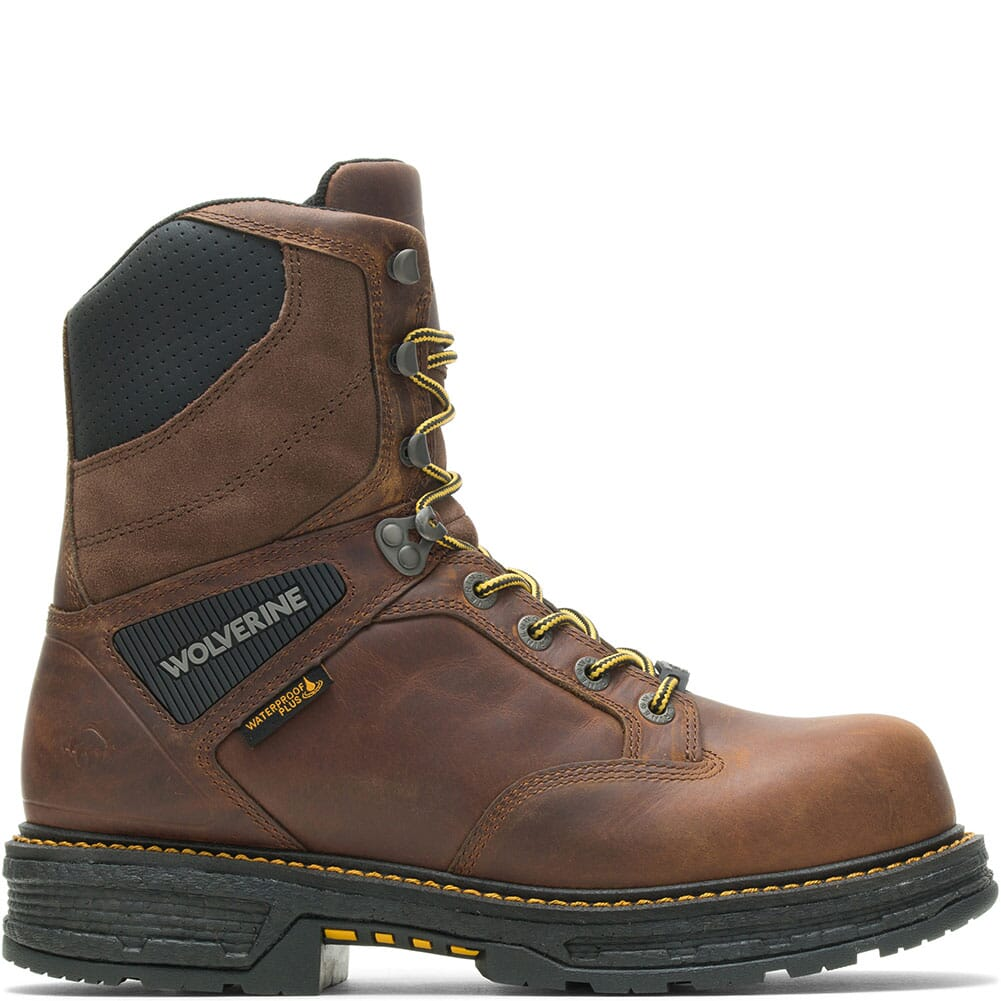 W201177 Wolverine Men's Hellcat Ultraspring WP CM Safety Boots - Tobacco