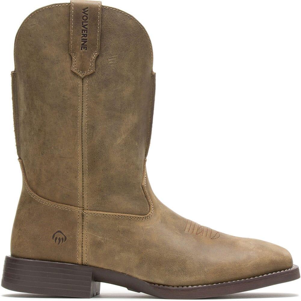W880140 Wolverine Men's Bronc Western Boots - Gravel