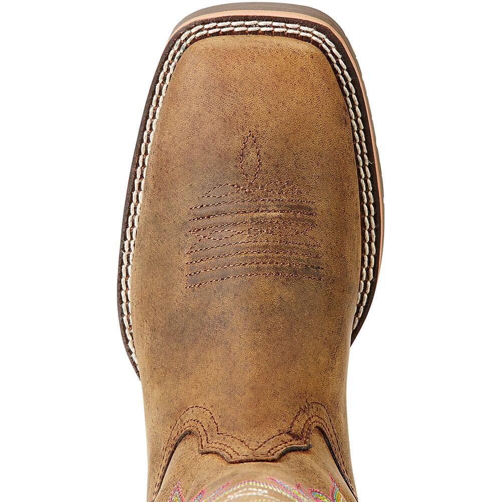 10018527 Ariat Women's Hybrid Rancher Western Boots - Distressed Brown