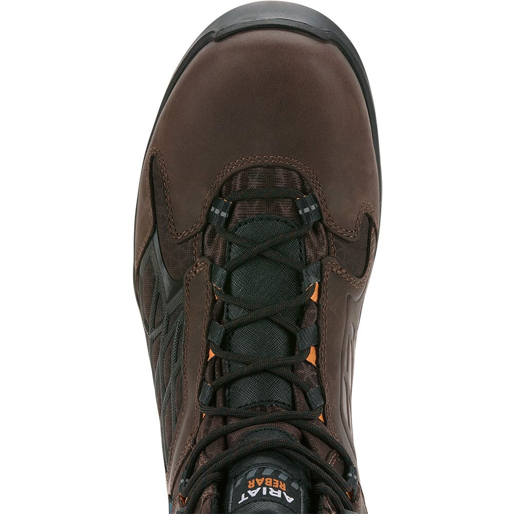 Ariat Men's Rebar Flex WP Work Boots - Dark Brown