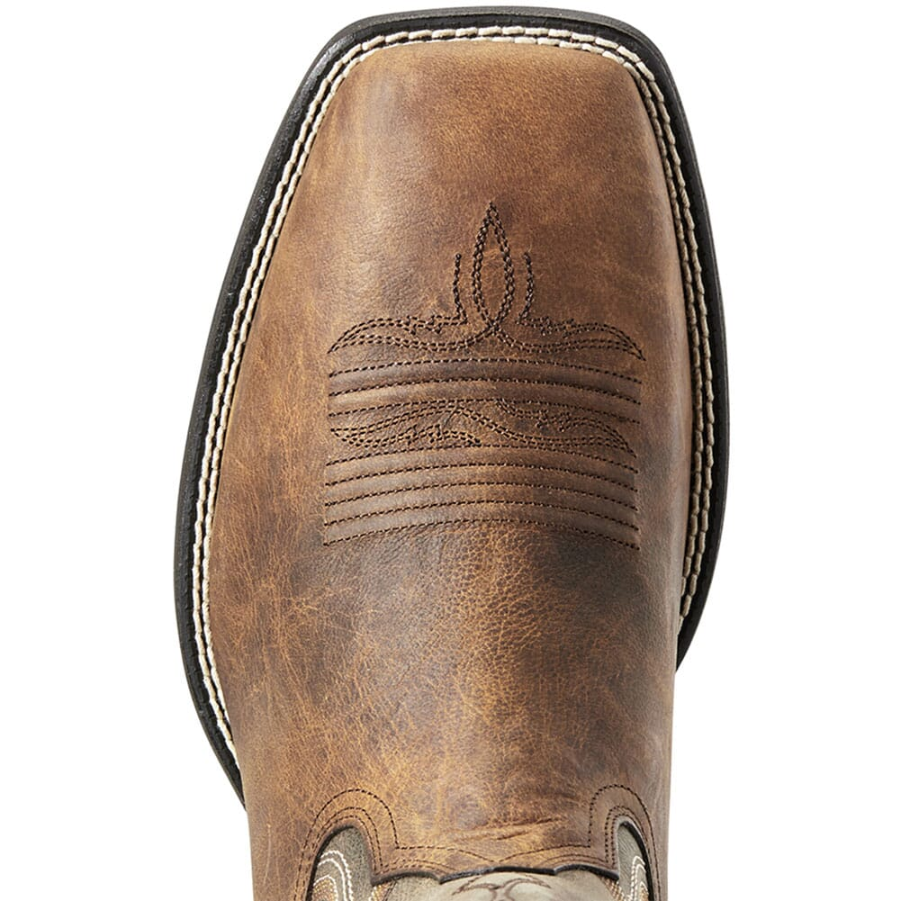 Ariat Men's Amos Western Boots - Hand Stained Red Brown
