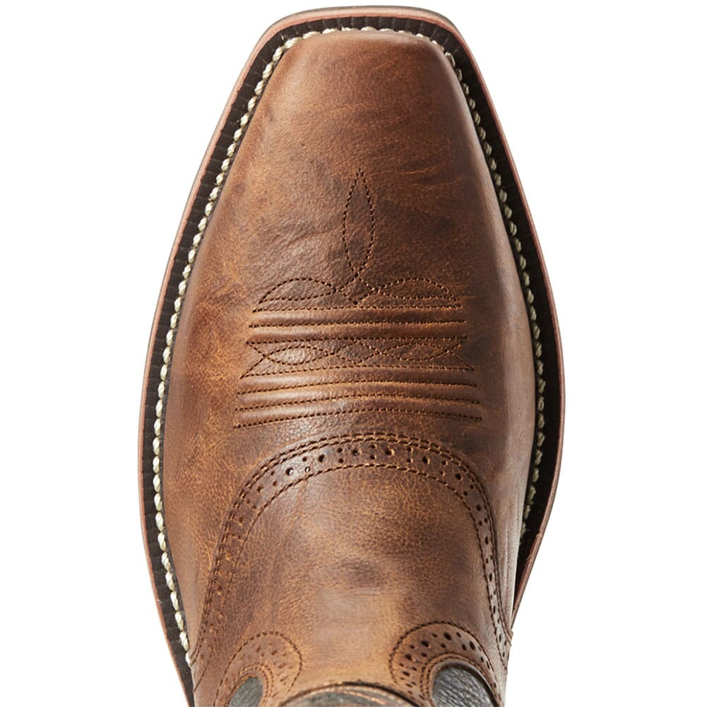 Ariat Kid's Heritage Stockman Western Boots - Distressed Brown