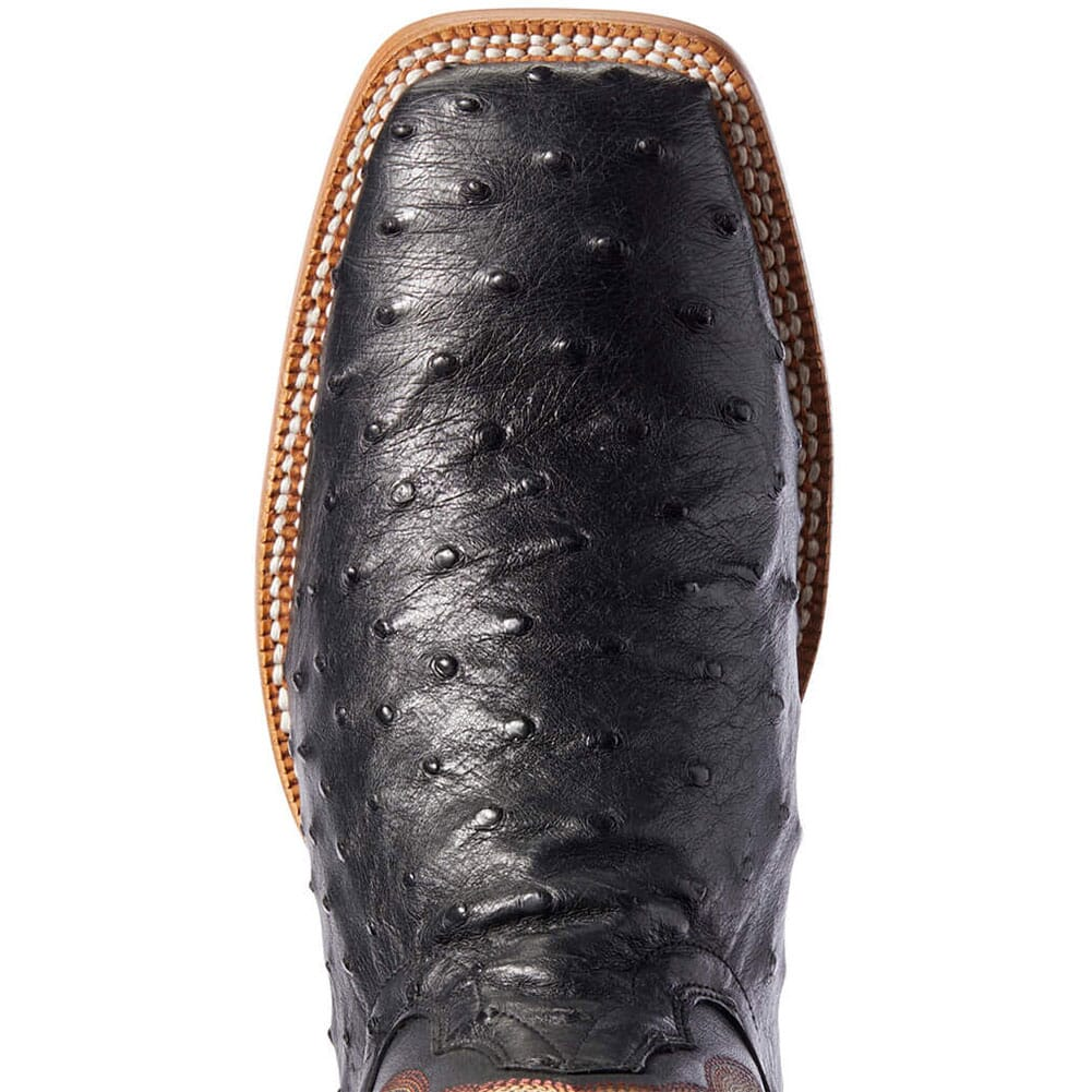 Ariat Men's Barker Full Quill Ostrich Western Boots - Black