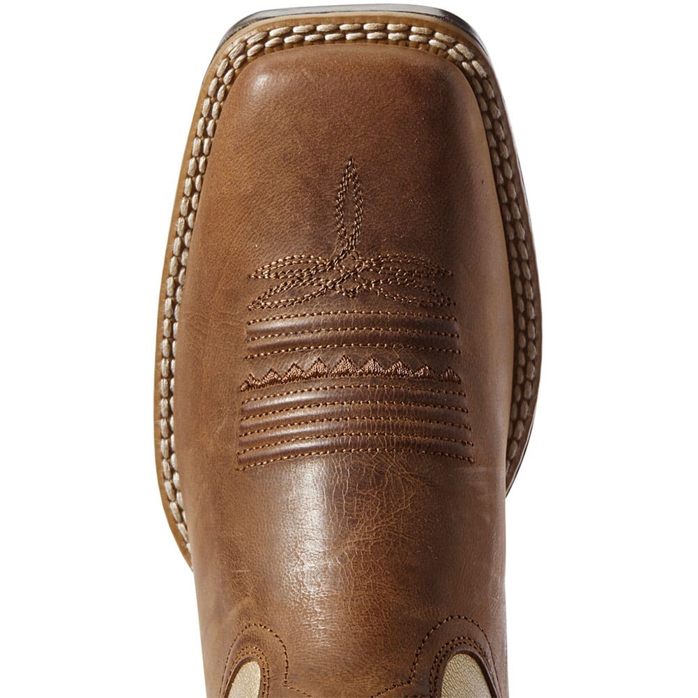 Ariat Women's Primetime Tack Western Boots - Sassy Brown/Pop Gold