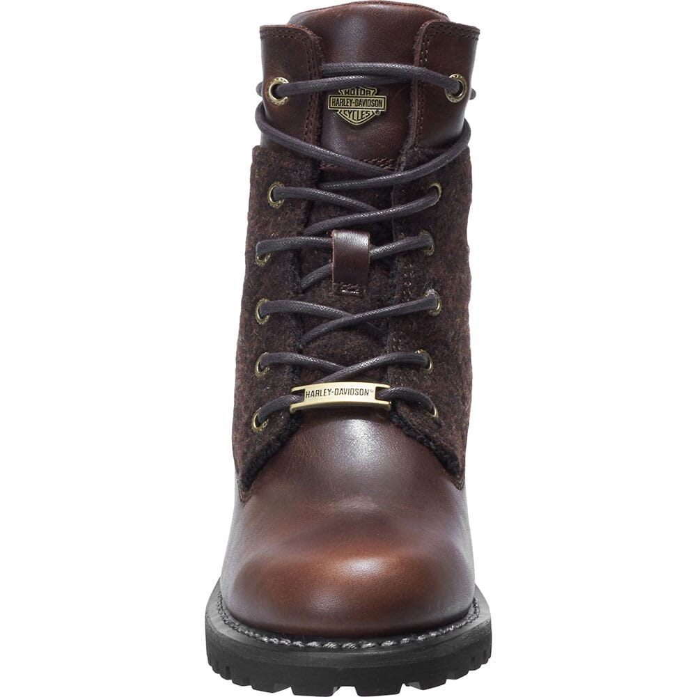 Harley Davidson Women's Dana Lace Up Motorcycle Boots - Brown