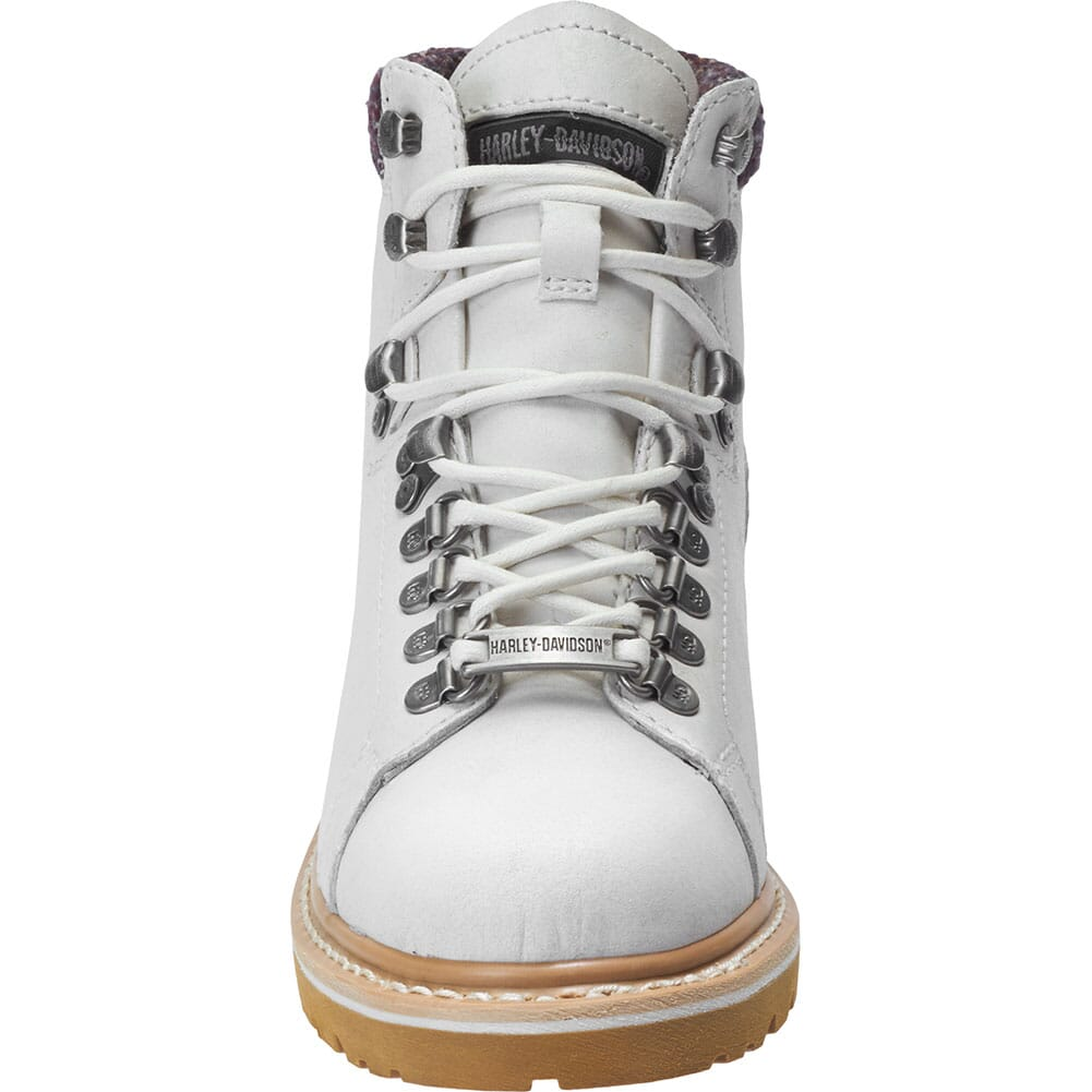 Harley Davidson Women's Akers Motorcycle Boots - White