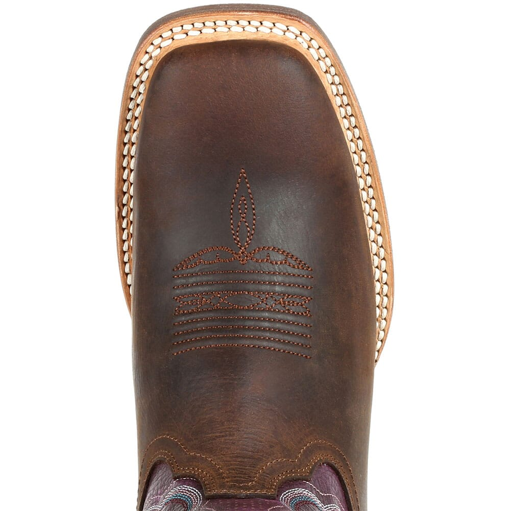 DRD0377 Durango Women's Lady Rebel Pro Ventilated Western Boots - Oiled Brown/Pl