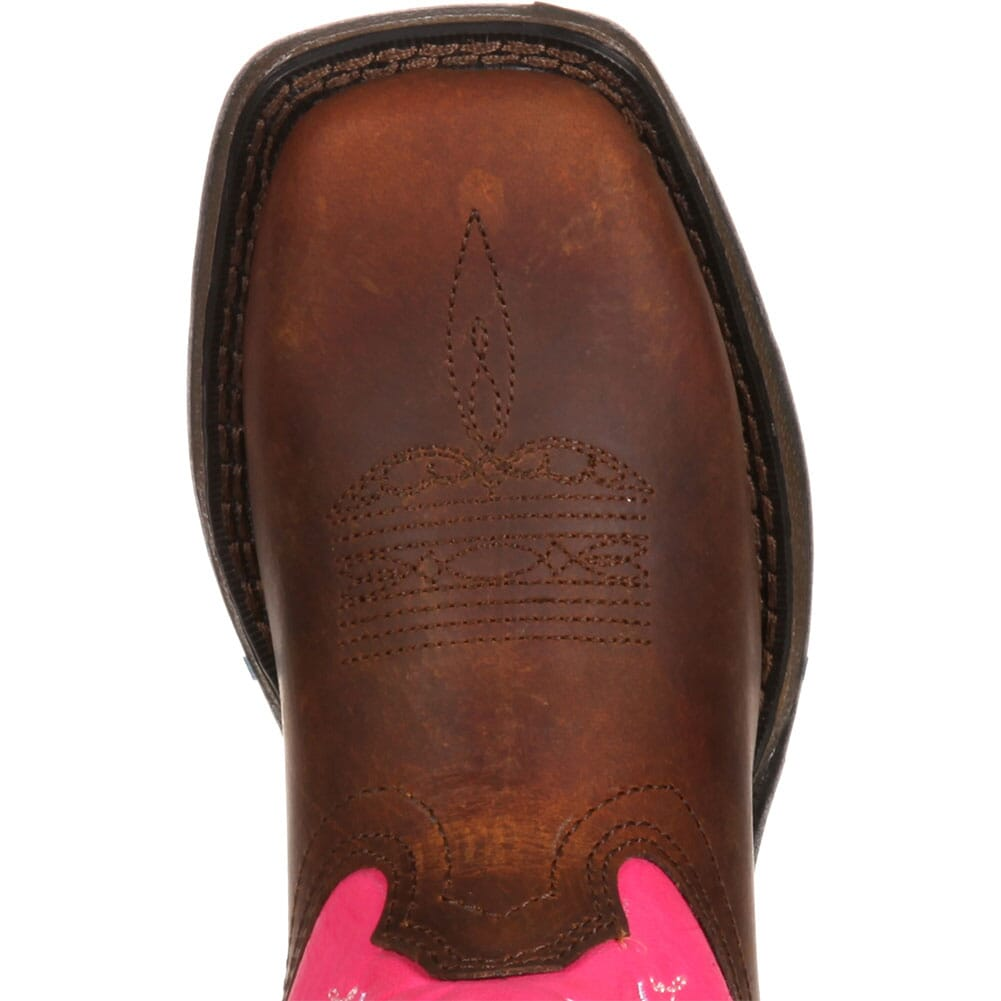 Lil' Durango Big Kid Let Love Fly Western Boots - Brown/Pink