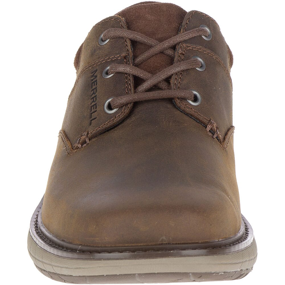 Merrell Men's World Vue Lace Wide Casual Shoes - Dark Brown