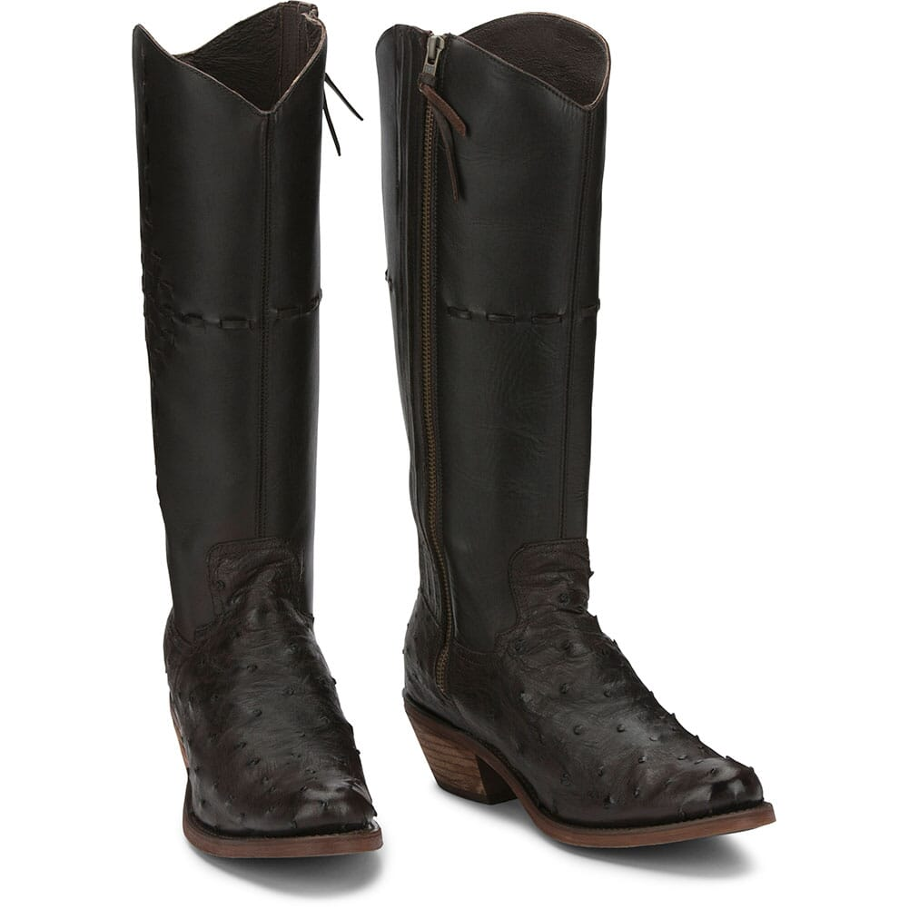 RML253 Justin Women's Mcalester Ostrich Casual Boots - Nicotine