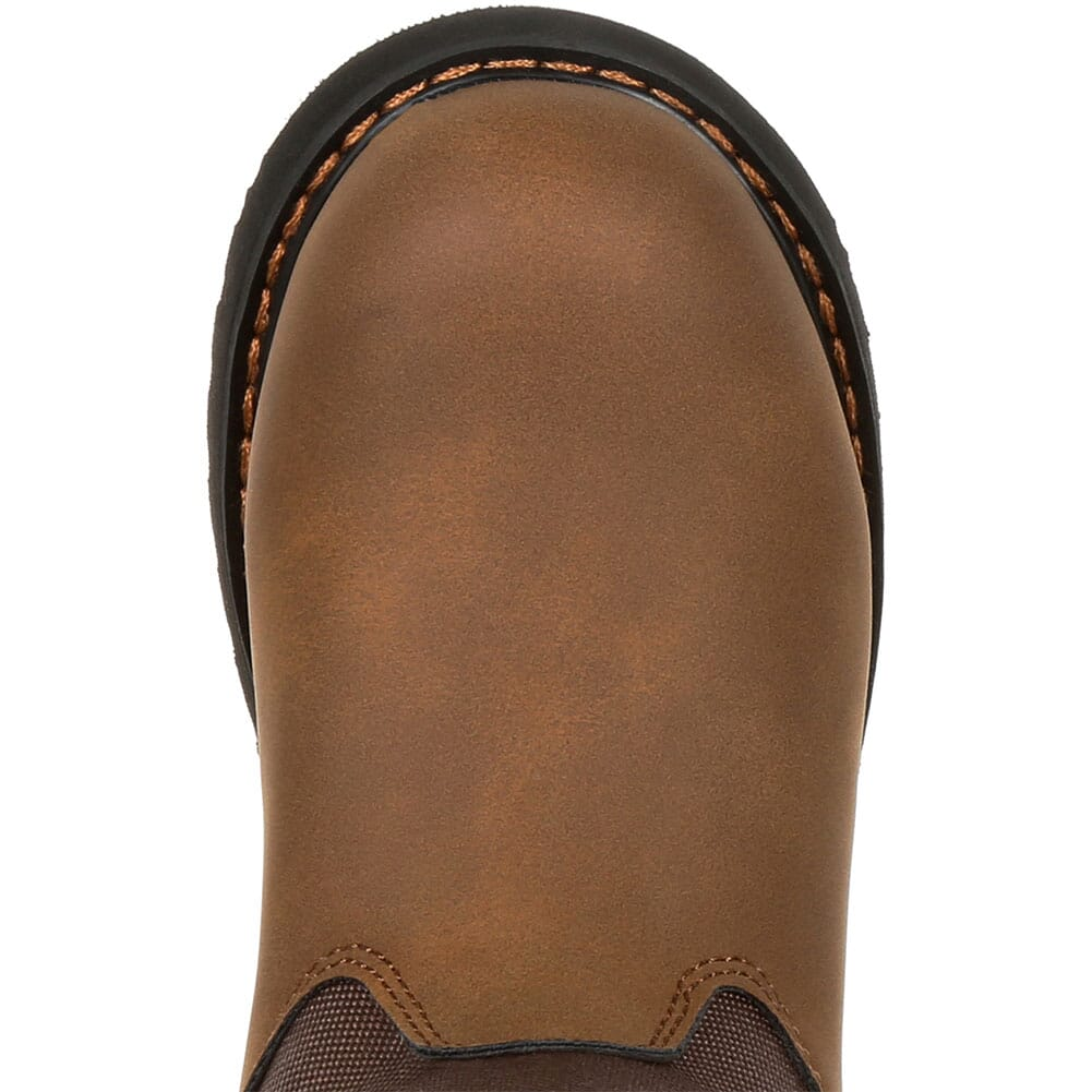 Rocky Big Kid's Lil Ropers Outdoor Boots - Dark Brown