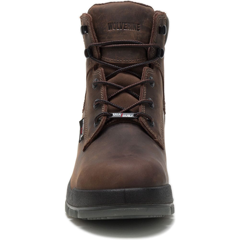 Wolverine Men's Ramparts WP Safety Boots - Dark Brown