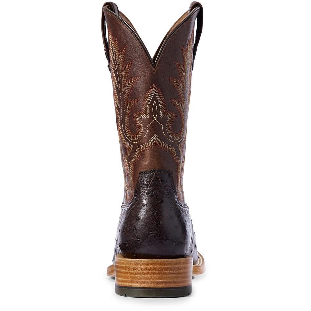 Ariat Men's Barker Full Quill Ostrich Western Boots - Dark Brown