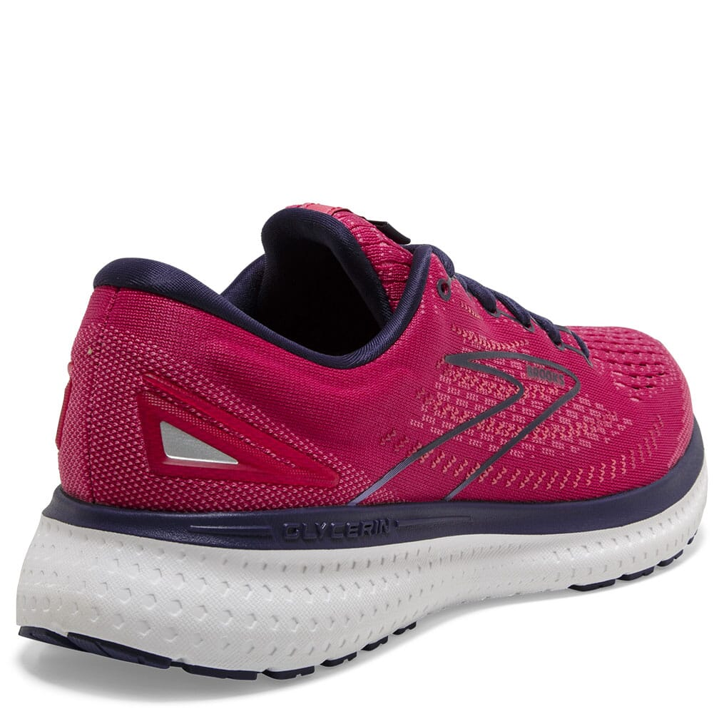120343-623 Brooks Women's Glycerin 19 GTS Athletic Shoes - Barberry/Purple