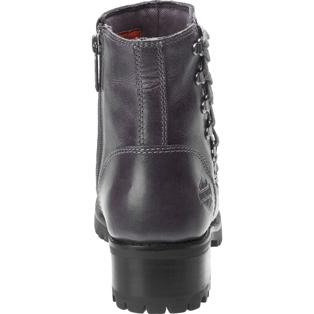 Harley Davidson Women's Hackley Zip Motorcycle Boots - Grey