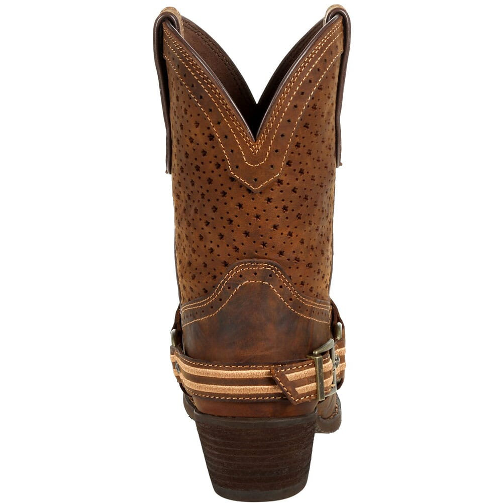 DRD0375 Durango Women's Crush Ventilated Shortie Western Boots - Bomber Brown