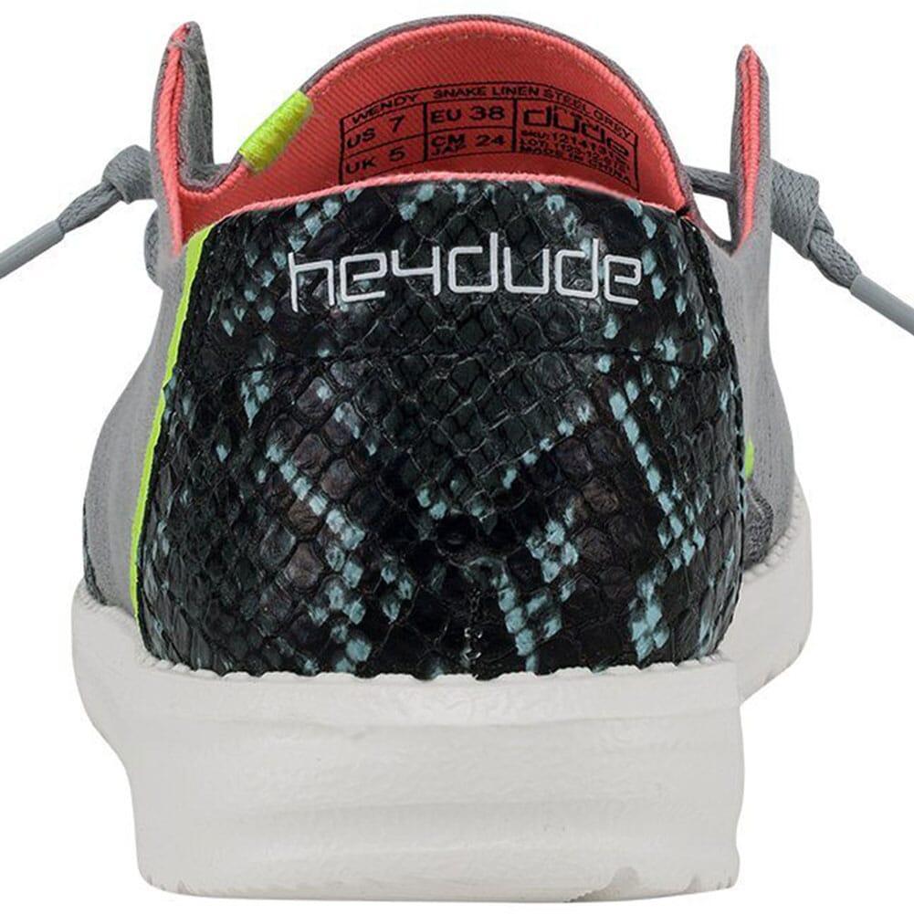 121413190 Hey Dude Women's Wendy Snake Casual Shoes - Steel Grey