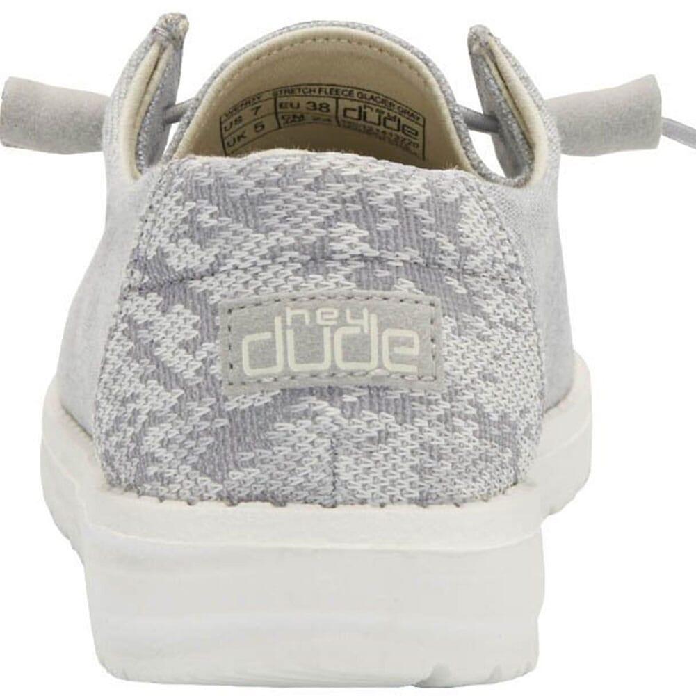 121413220 Hey Dudes Women's Wendy Stretch Fleece Casual Shoes - Glacier Grey