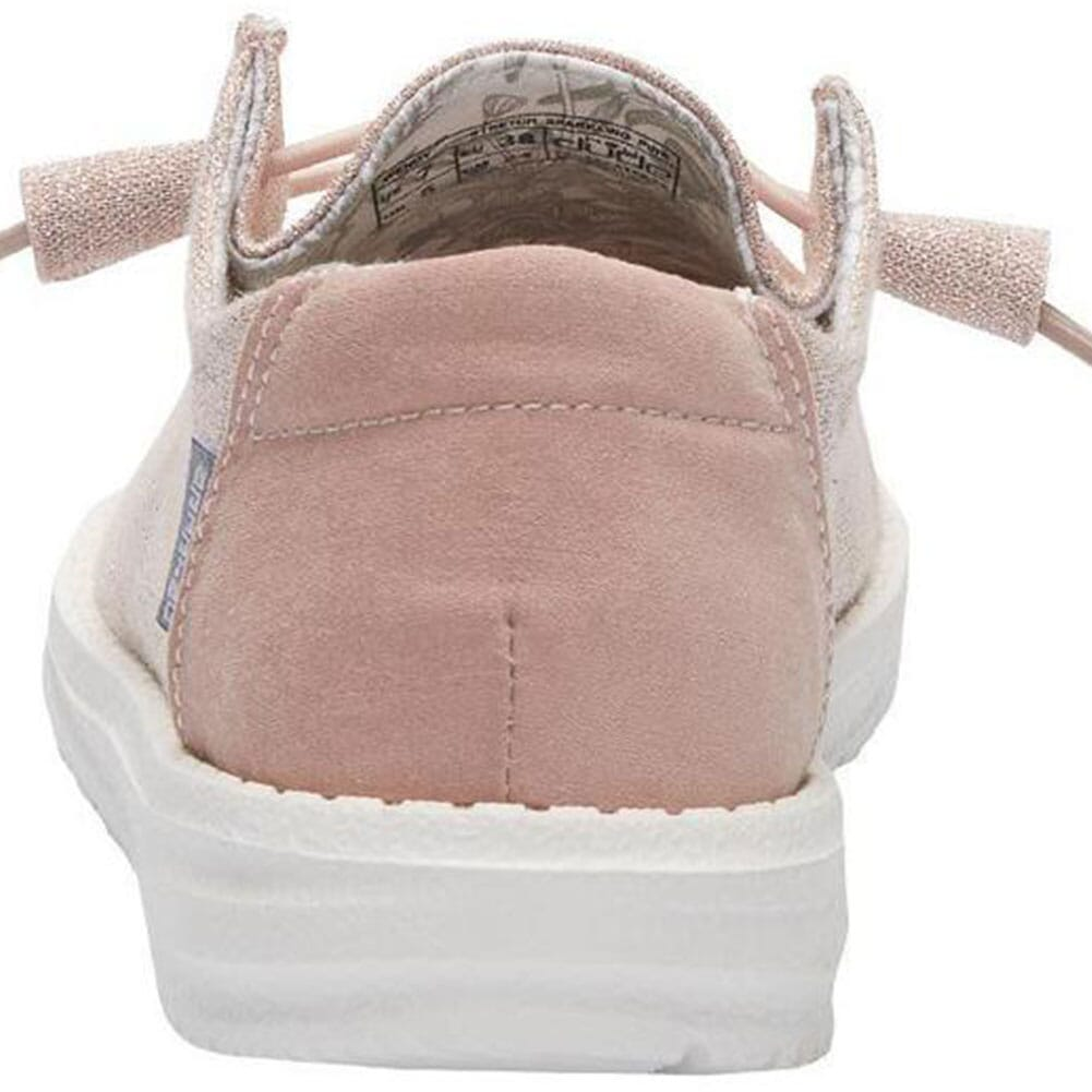 121415033 Hey Dude Women's Wendy Sparkling Casual Shoes - Pink