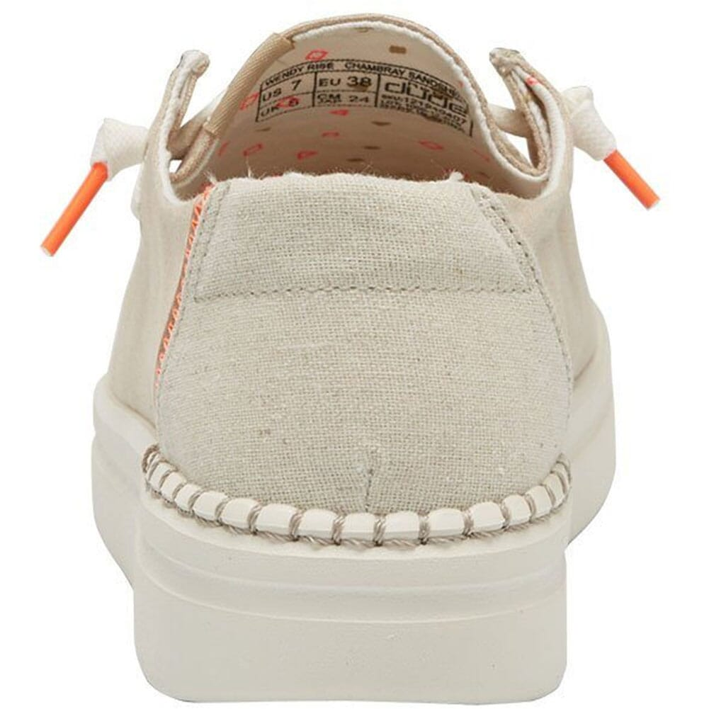 121940407 Hey Dude Women's Wendy Rise Casual Shoes - Chambray Sandshell