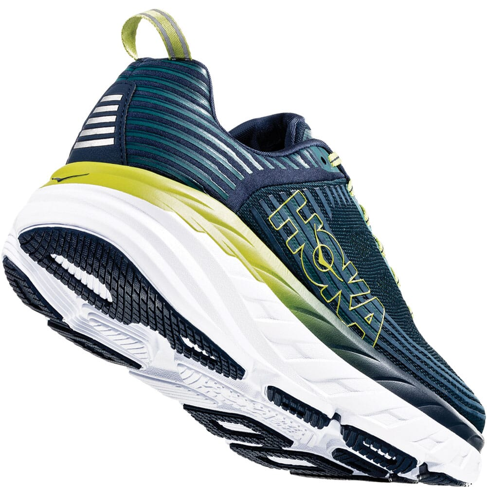 Hoka One One Men's Bondi 6 Wide Running Shoes - Deep Teal