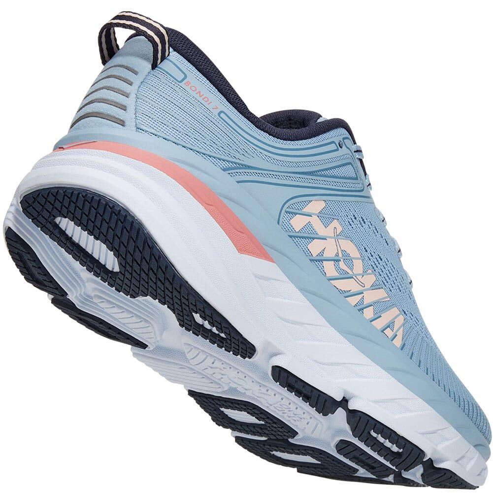 1110519-BFOB Hoka One One Women's Bondi 7 Athletic Shoes - Blue Fog