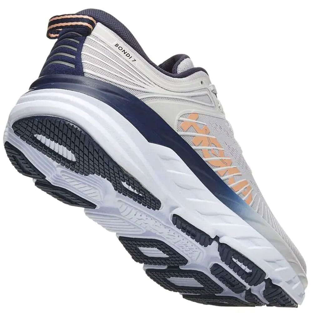 1110519-LRBI Hoka One One Women's Bondi 7 Athletic Shoes - Lunar Rock/Black