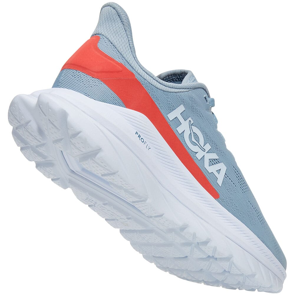 1113529-BFHC Hoka One One Women's Mach 4 Running Shoes - Blue Fog/Hot Coral
