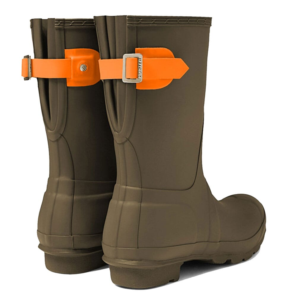 Hunter Women's Short Adjustable Rain Boots - Swamp Green/Com