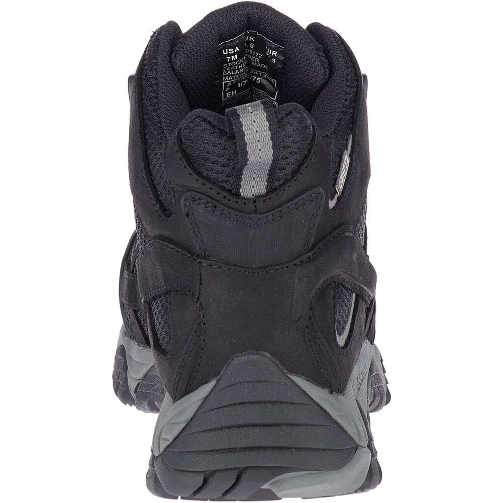 Merrell Women's Moab Vertex Mid WP Safety Boots - Black