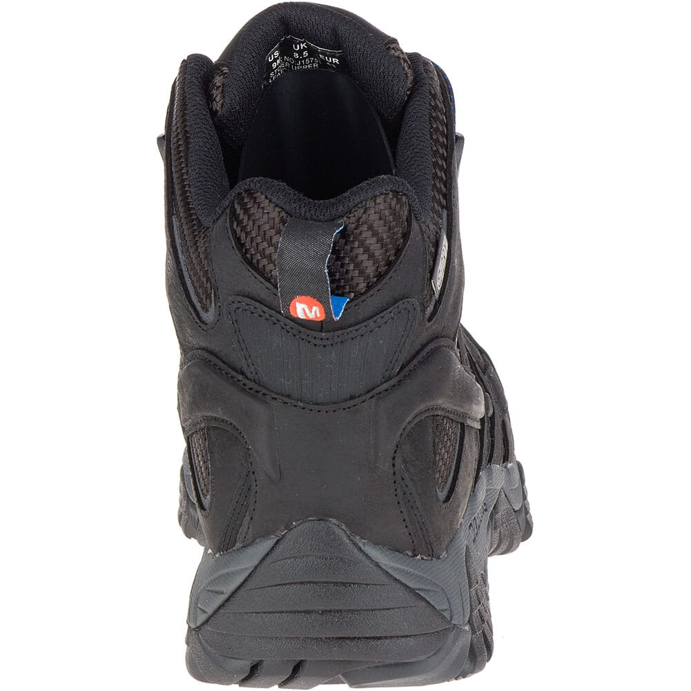 Merrell Men's Moab 2 Vent Mid WP Wide Safety Boots - Black