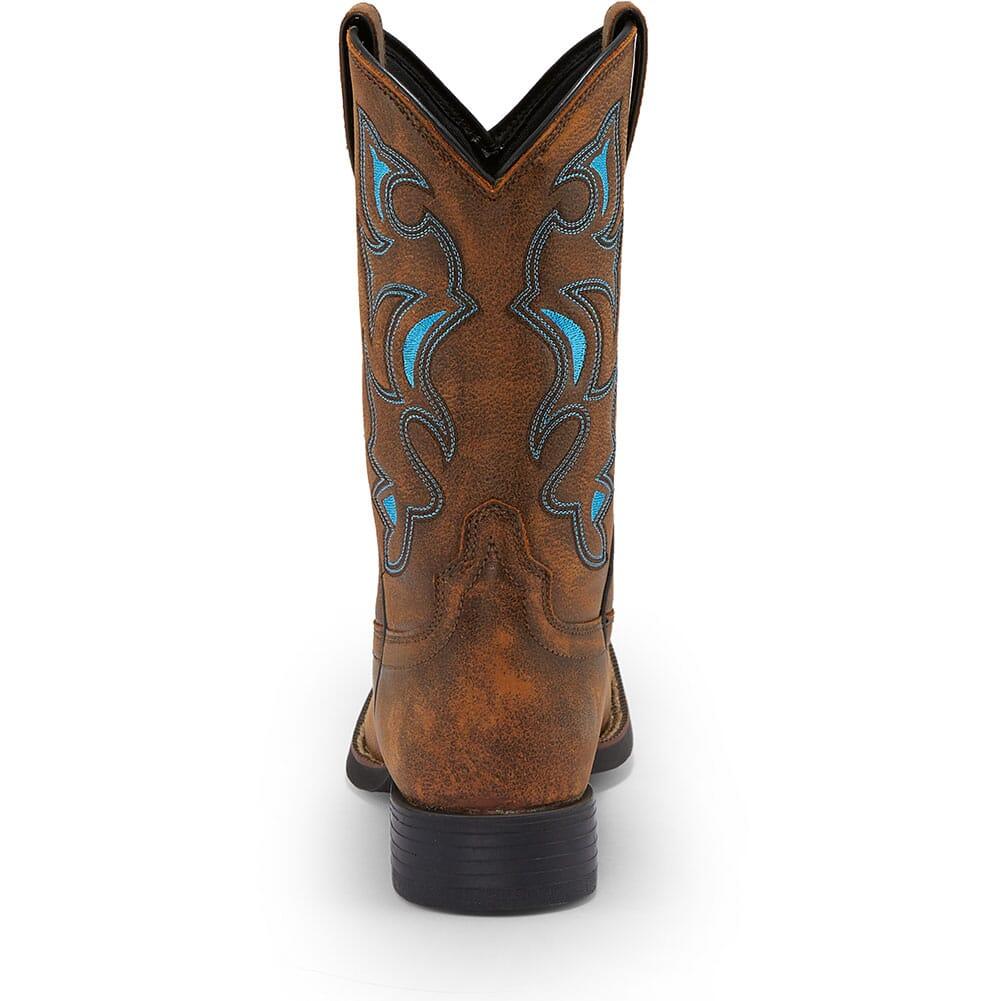 Justin Men's Chet Western Boots - Sky Blue/Tan